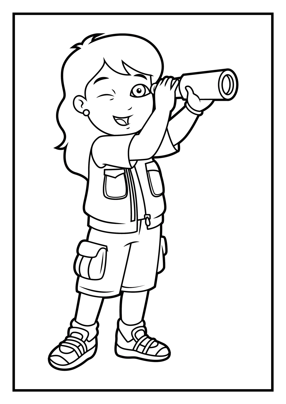 Diego with Dora coloring pages for kids, printable free | coloing-4kids.com | 1386x980