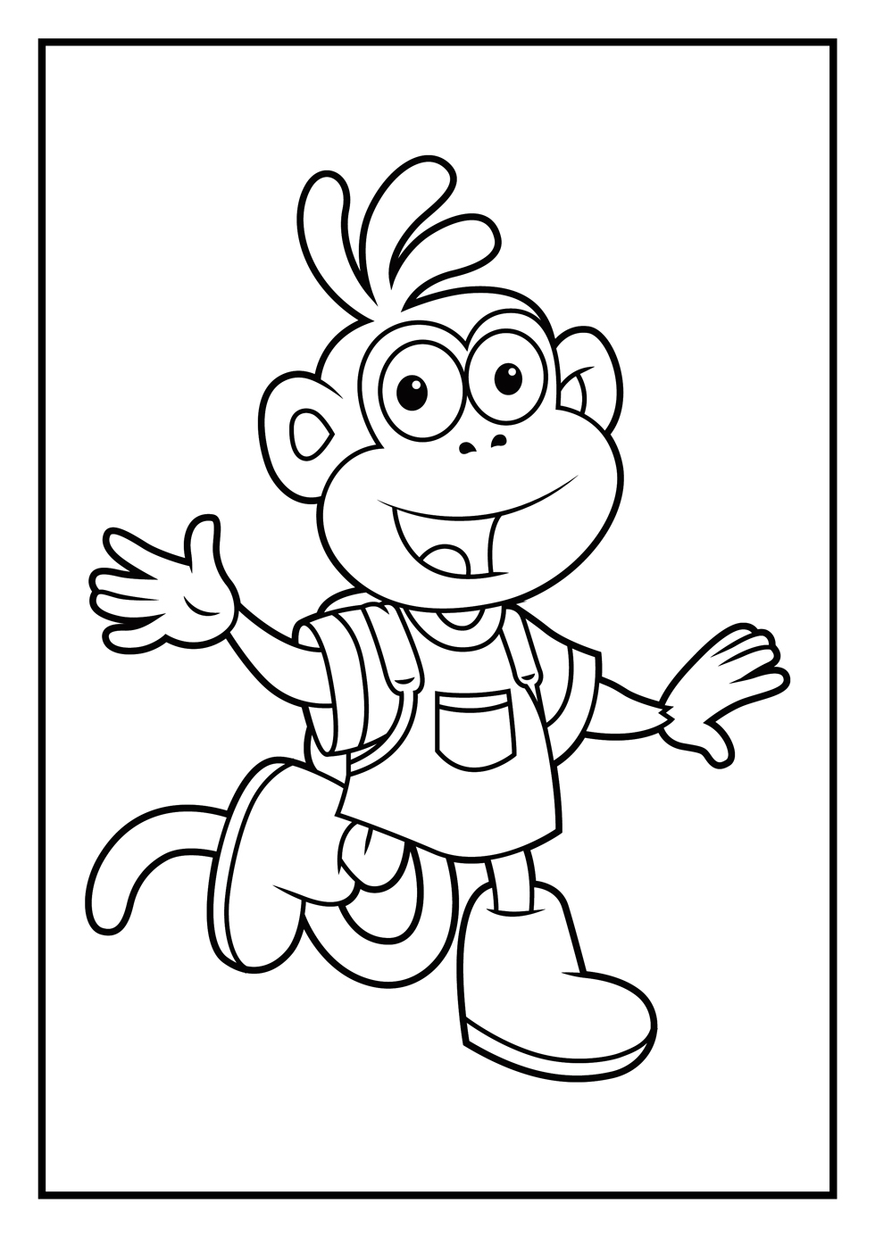 Boots Colouring Pages
