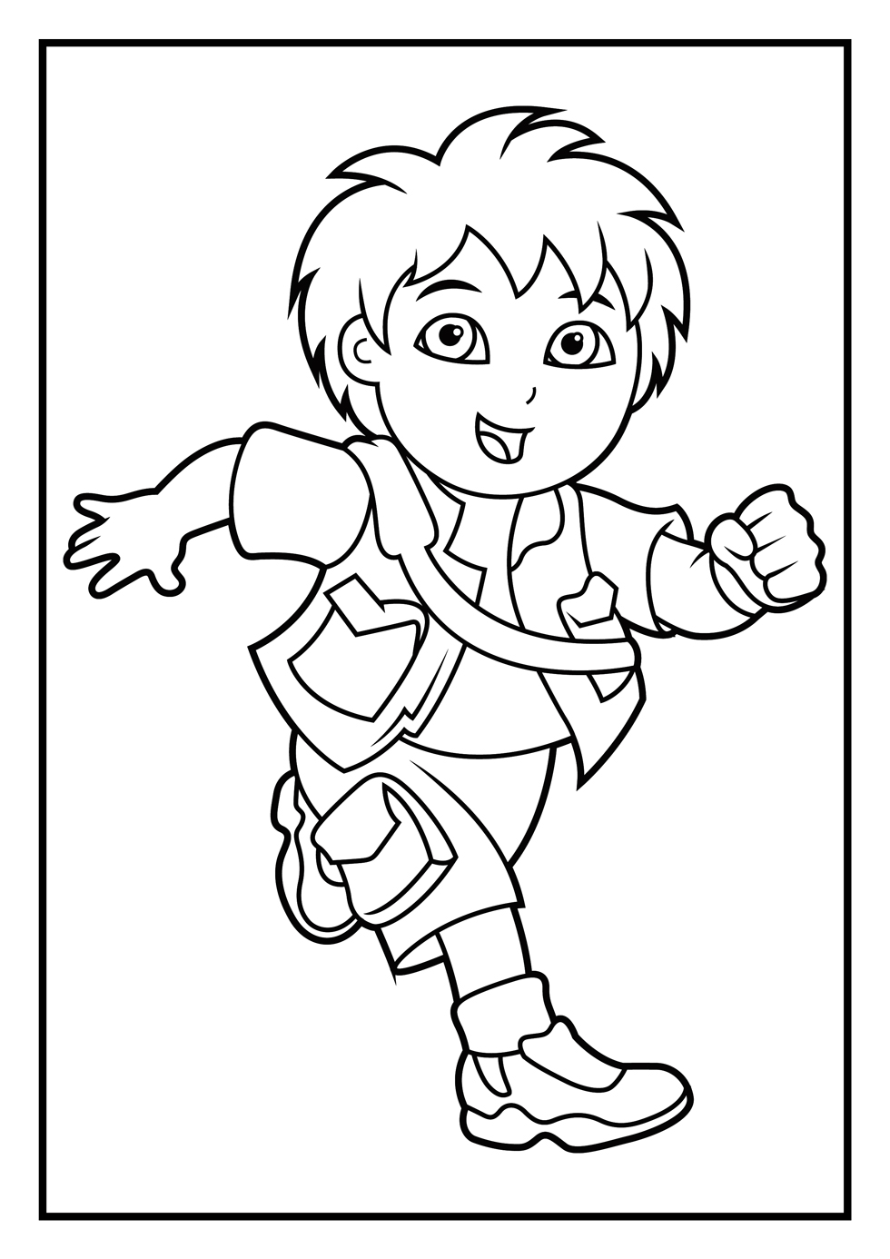 Coloring Pages Dora And Go