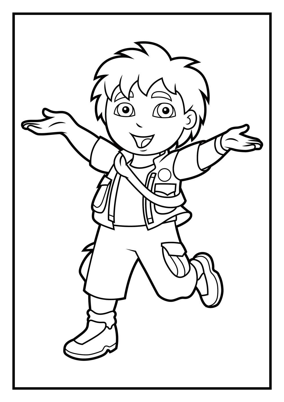 coloring pages diego coloring pages