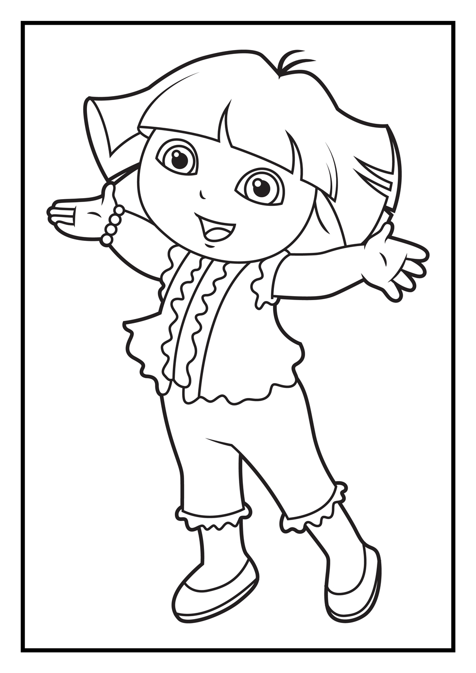 coloring pages with dora - photo#47