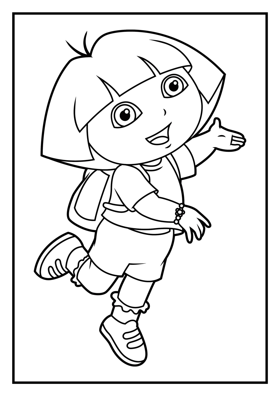Dora Ice Princess Coloring Pages