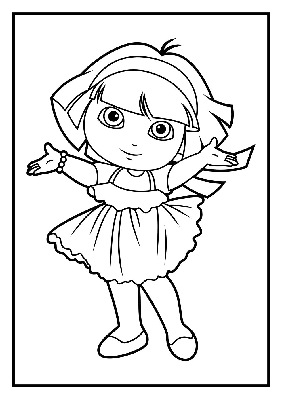 Free printable coloring pages dora 2015 for Dora halloween coloring pages