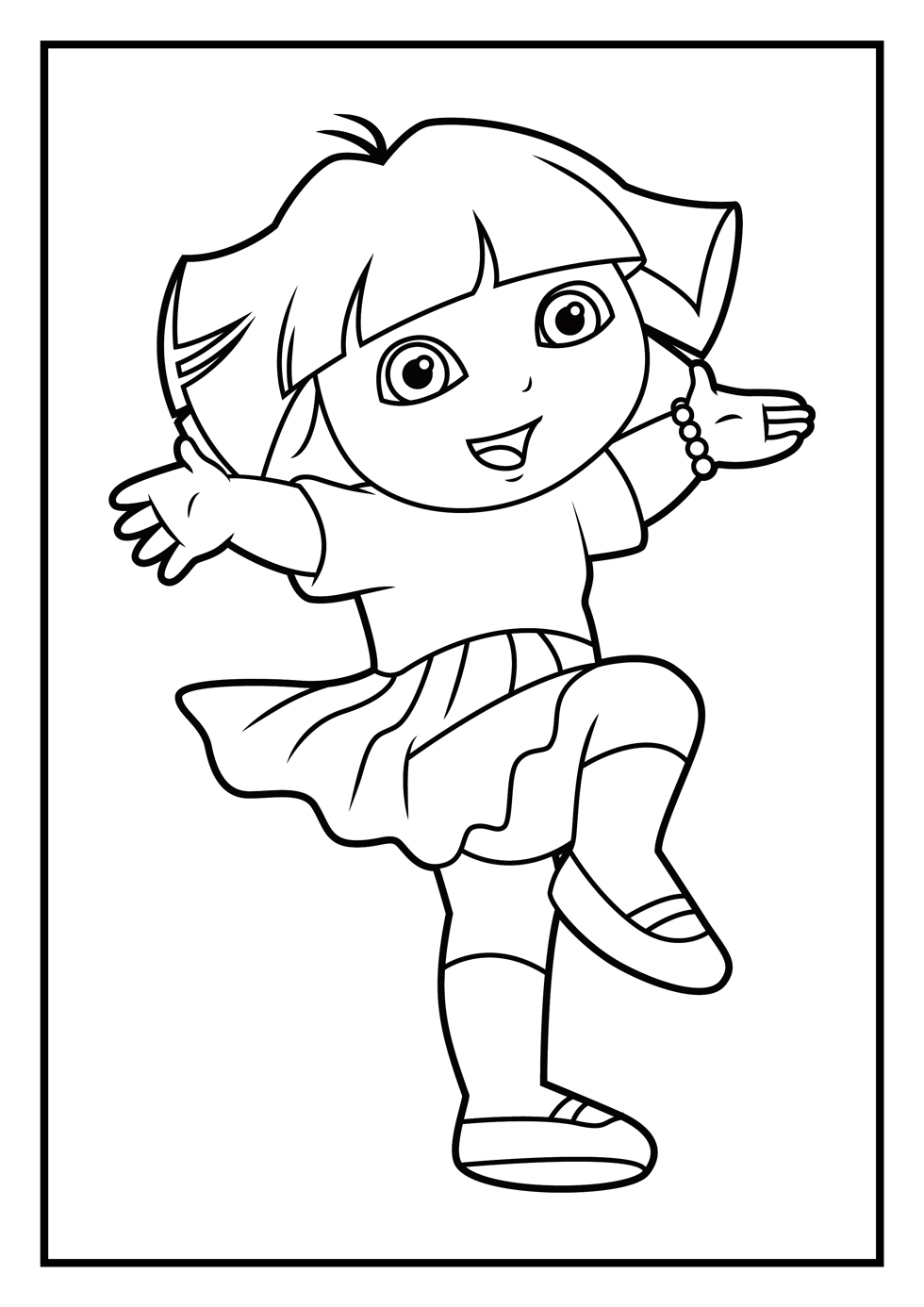 coloring pages with dora - photo#18