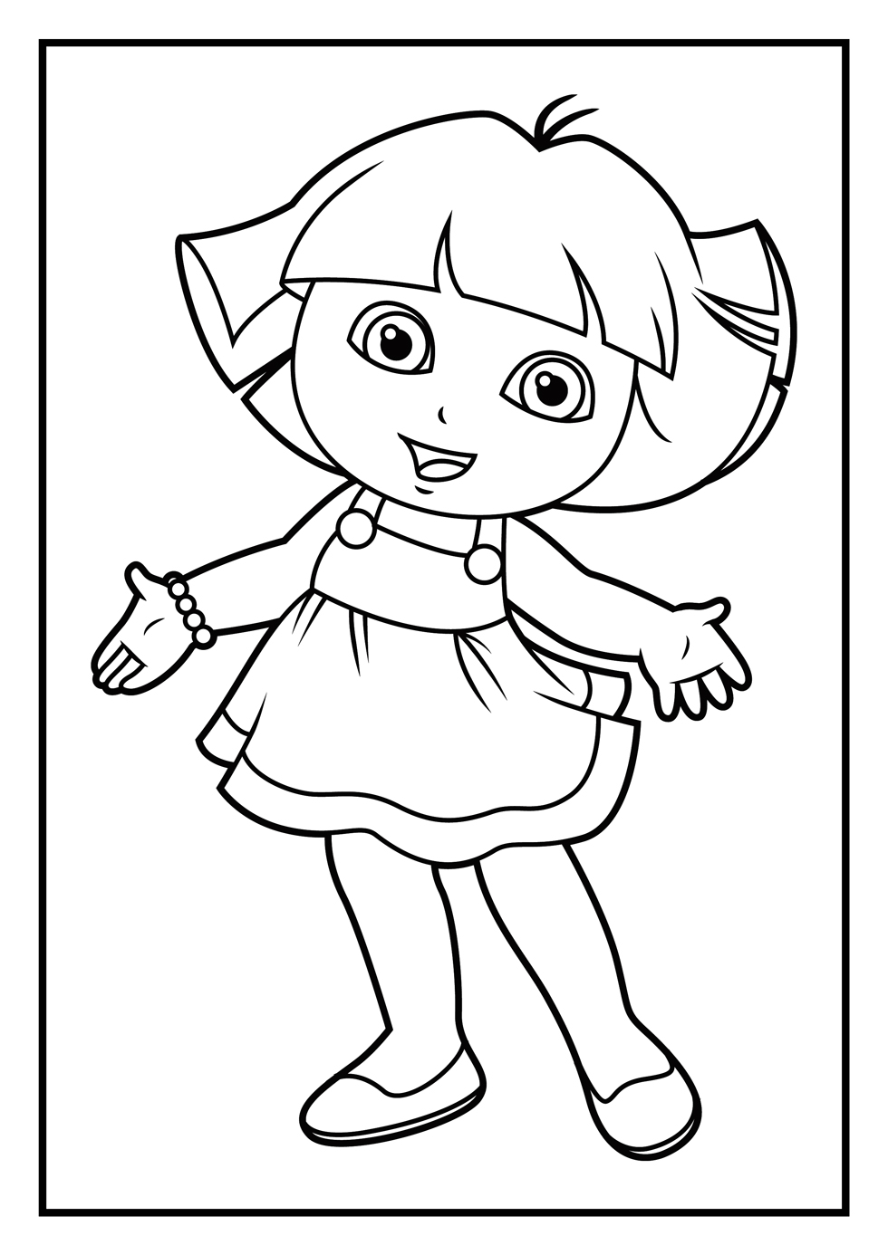 Dora Games Coloring Pages Coloring