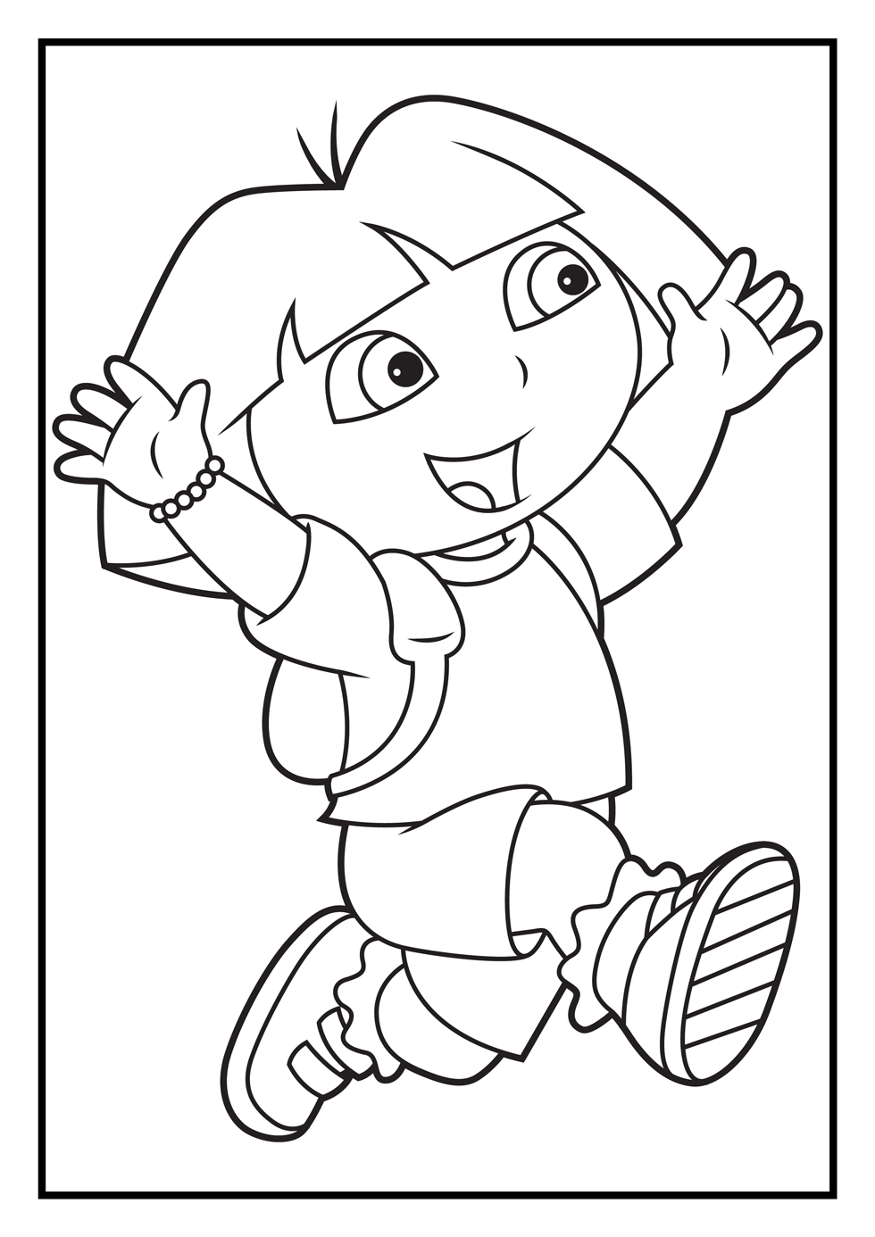 Dora the explorer coloring pages coloring pages for Dora the explorer coloring page