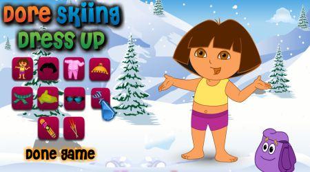 Screenshot - Dora Skiing Dress Game