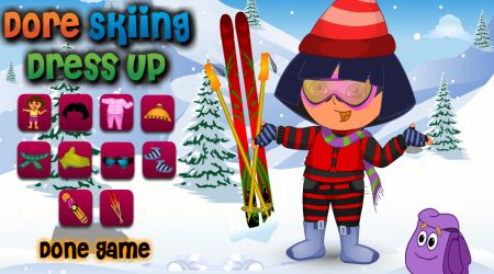 Screenshot - Dora Skiing Dress Game